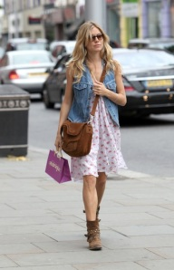 EXCLUSIVE: Sienna Miller Shopping In London (USA AND OZ ONLY)